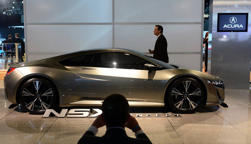 . An Acura NSX concept car is displayed on media preview day at the Los Angeles Auto Show on November 28, 2012 in Los Angeles, California. The show opens to the public from November 30 to December 9. AFP PHOTO / Frederic J.  BROWN/AFP/Getty Images
