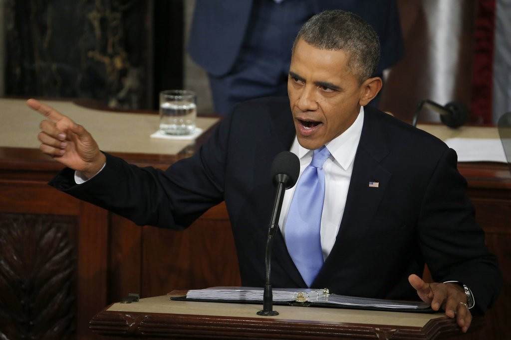 """. <p>5. STATE OF THE UNION <p>Were you watching? Neither was anyone else. (2) <p><b><a href=\'https://www.ijreview.com/2014/01/111537-seven-big-lies-obama-told-in-his-state-of-the-union-speech/\' target=\""""_blank\""""> HUH?</a></b> <p>    (AP Photo/Charles Dharapak)"""