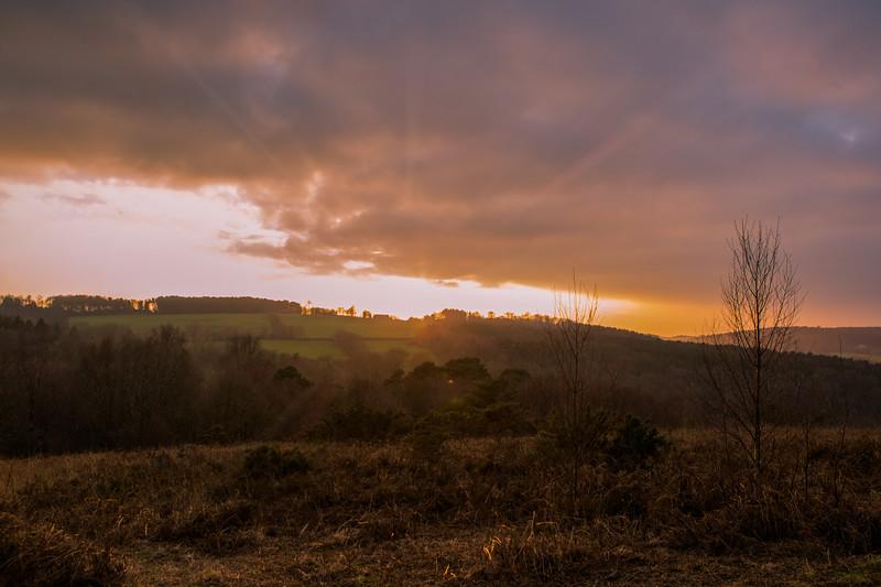2018 - January sunset over Ashdown 003