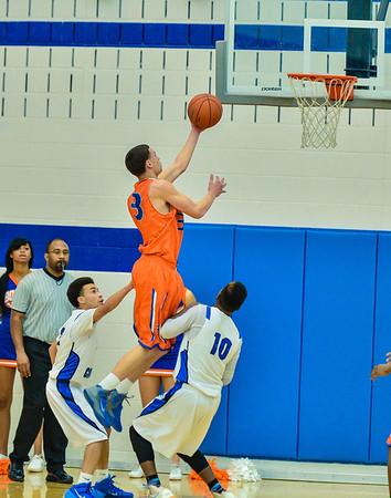 Basketball Varsity Boys vs  Bowie 01-28-14-16