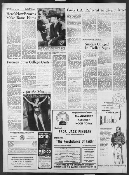 Daily Trojan, Vol. 43, No. 31, October 30, 1951
