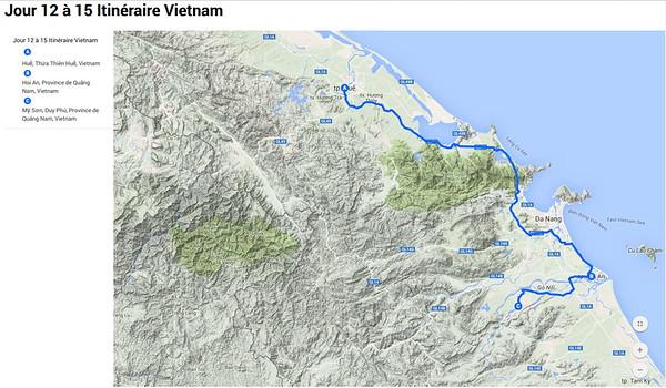 Le centre ( Hué, Hoi An, My Son) 17 au 20 mars