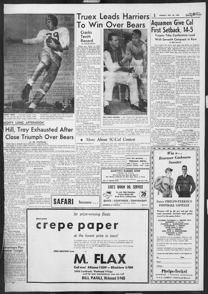 Daily Trojan, Vol. 46, No. 27, October 25, 1954