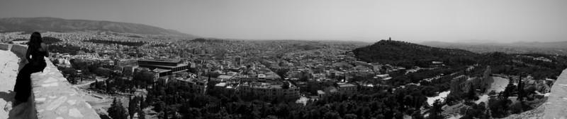 Athens from the Acropolis, facing south