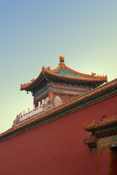 a section of the Temple of Heaven, Beijing, China