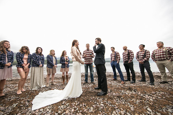 Andy & Amanda Wedding Glacier Wyoming