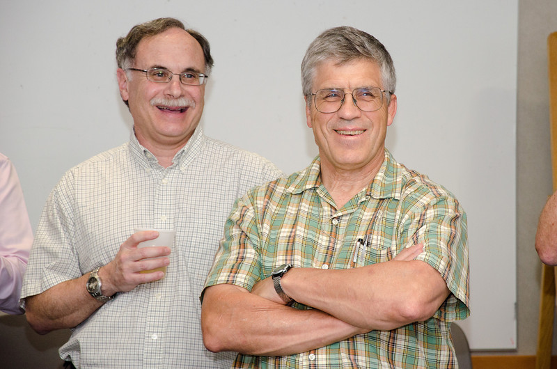Rob Petre and Tuck Stebbins -- Bruce Woodgate retirement party, NASA/GSFC, June 2013