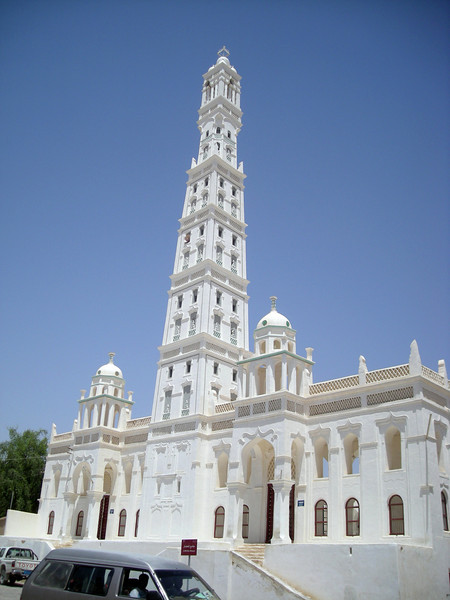 the tallest minarette in Yemen, the al-Muhdar Mosque in Tarim