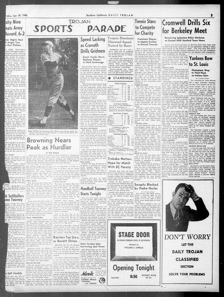 Daily Trojan, Vol. 33, No. 132, April 30, 1942
