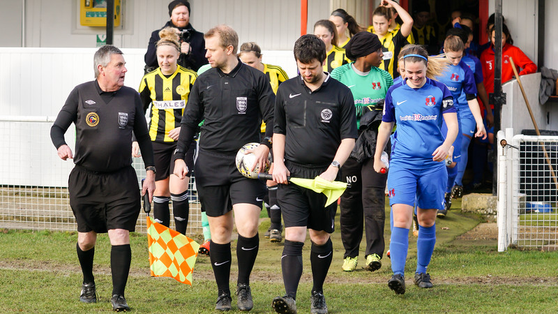 Crawley Wasps Ladies (4) vs Leyton Orient WFC (1) on January 27, 2019 at Oakwood Football Club, Tinsley Lane, Crawley RH10 8AT, Crawley. Photo: Ben Davidson, www.bendavidsonphotography.com - 1901270113