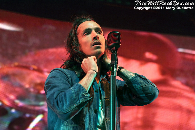 "Brandon Boyd of Incubus performs on September 9, 2011 in support of ""If Not Now, When?"" at Comcast Center in Mansfield, Massachusetts"
