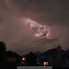 5-22-11   We had a rather large thunderstorm last night.  This was the best shot at our attempt to capture some lightning.