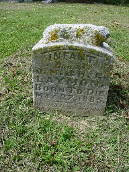 Infant of James M Laymon and Hattie Laymon Troutwine Cemetery, Lynchburg, Ohio