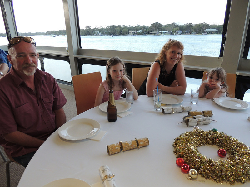 3rd Annual Combat Karate Christmas Party & Awards Noosa 2012 Craig, Maria & daughters