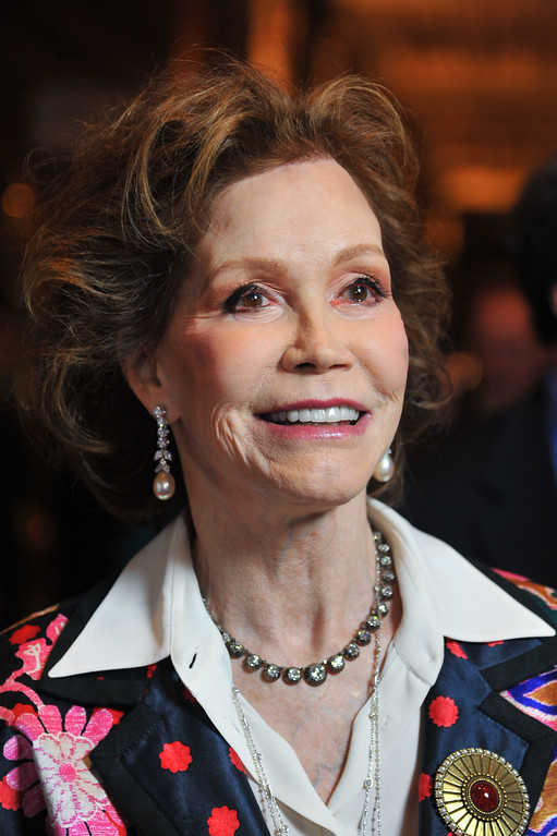 """. Actress Mary Tyler Moore arrives at the taping of \""""Betty White\'s 90th Birthday: A Tribute To America\'s Golden Girl\"""" on Sunday, Jan. 8, 2012 in Los Angeles. The show will air on NBC on Jan. 16, 2012. (AP Photo/Vince Bucci)"""