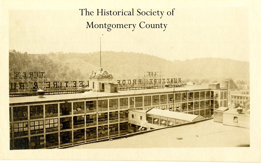 . This photo from the Historical Society of Montgomery County shows Lee Tires in Conshohocken circa 1920.