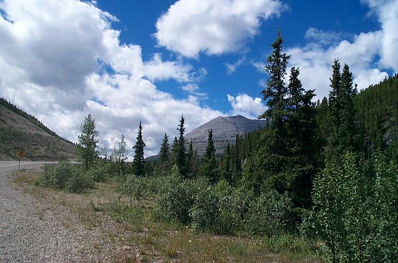 Bare rocky mountain
