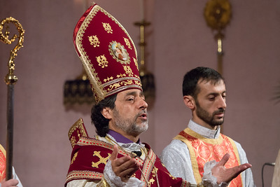 """Divine Liturgy and A """"Prayer of Thanksgiving""""  at St. Vartan Cathedral, October 30, 2016"""