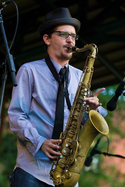 John Ellis & Double Wide-2010 Twin Cities Jazz Festival- Mears Park, St, Paul MN---Mus-8021