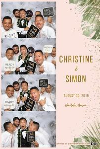 Simon & Christine's Wedding (Mini LED Open Air Photo Booth)