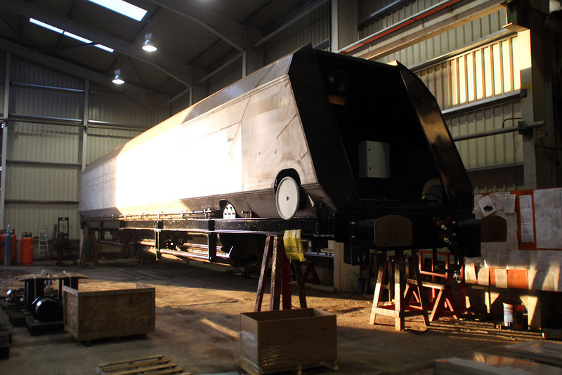 An unnumbered IIA inside WH Davis's getting its Hoods fitted. 15/12/12.