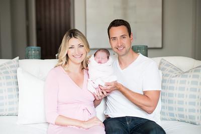 Newborn family photographs at home - Addison 05/10/2017