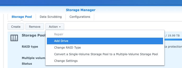 Adding Disk to Storage Pool