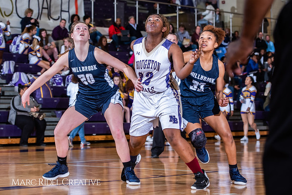 Broughton girls varsity basketball vs Millbrook. February 15, 2019. 750_7370