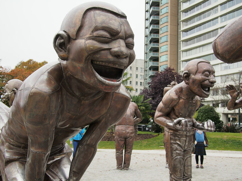Oct. 19/13 - Art installation on English Bay (Title: A-maze-ing Laughter)