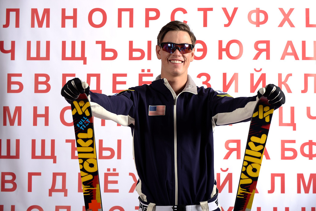 . Freestyle skier Dylan Ferguson poses for a portrait during the USOC Media Summit ahead of the Sochi 2014 Winter Olympics on September 29, 2013 in Park City, Utah.  (Photo by Harry How/Getty Images)
