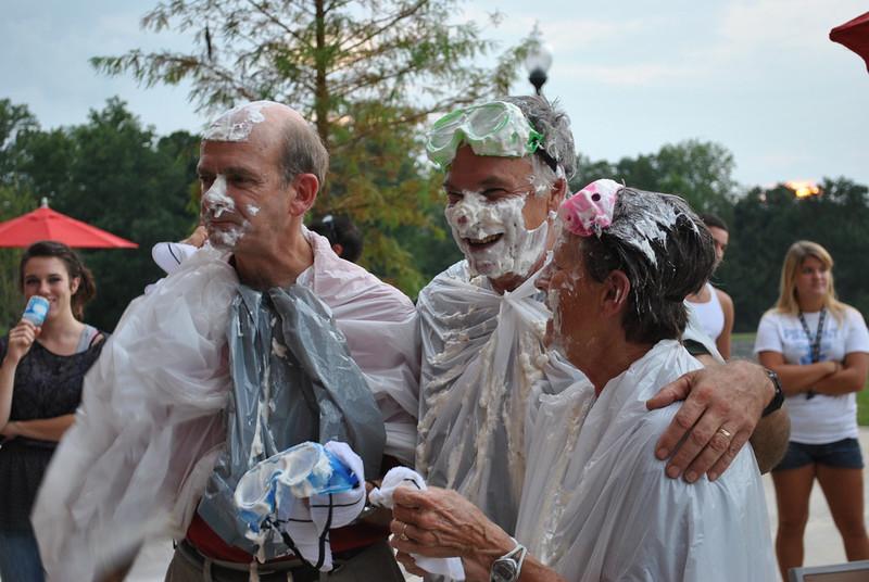 Dr. Bonner, Dr. Jones, and Dee Hunt all full of pie.
