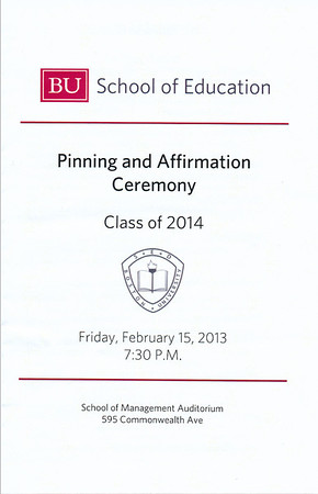 Josh Pinning & Affirmation Ceremony