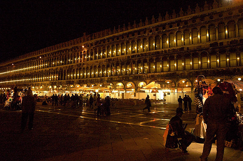 Night at Piazza San Marco in Venice.