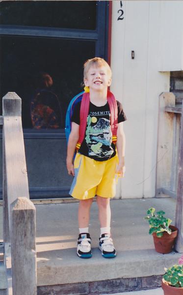 Matt Second Day of School