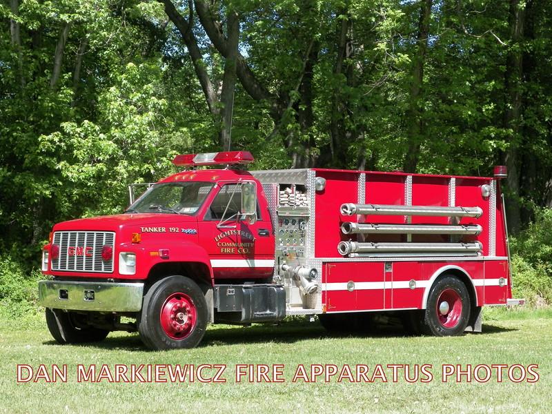 LIGHTSTREET COMMUNITY FIRE CO. TANKER 192 1992 GMC/4GUYS TANKER