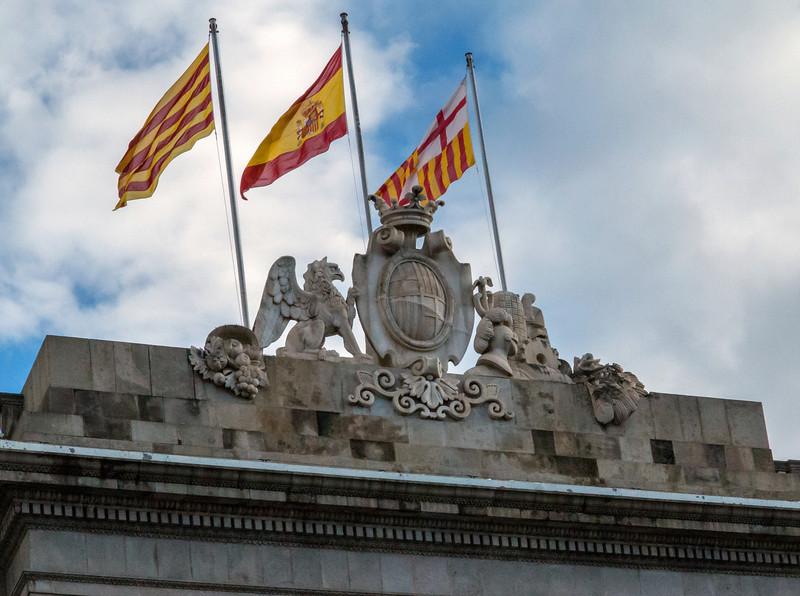 Barcelona, Placa de Sant Jaume, City Hall.