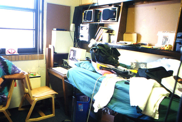 Dan's first dorm room