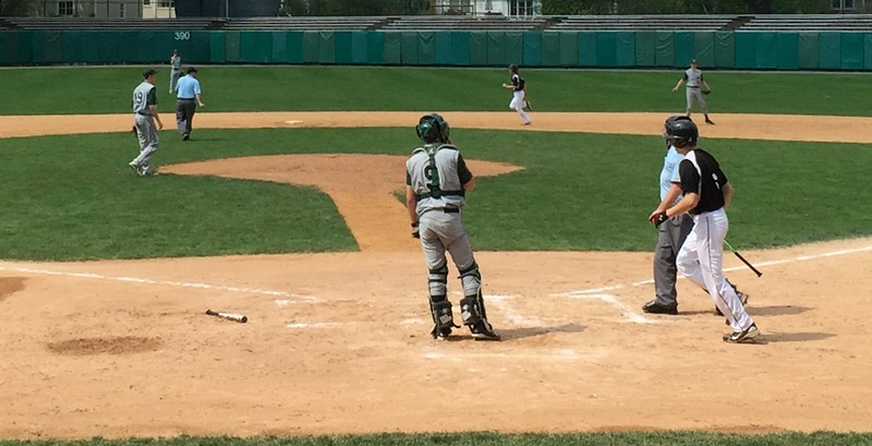 Baseball game being played at Doubleday Field