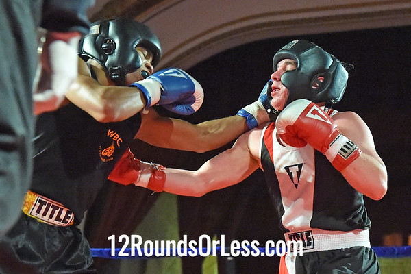 Bout 2 Frank Brown(Blue Gloves), WSBC, Cleveland -vs- Niko Froce(Red Gloves), Foundation Boxing, New Castle, PA, 132 lbs, OPEN