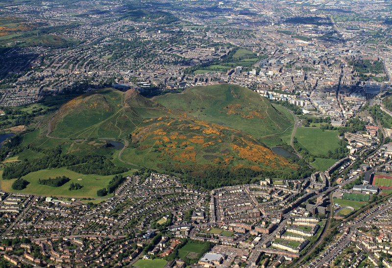 Arthur's seat from the plane