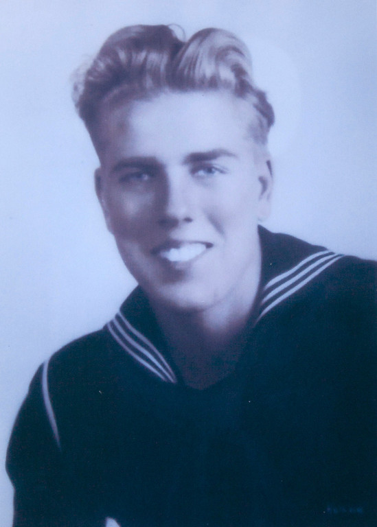 . Arvy Geurin upon graduation from boot camp in San diego in 1943. (Courtesy of Gale Geurin)