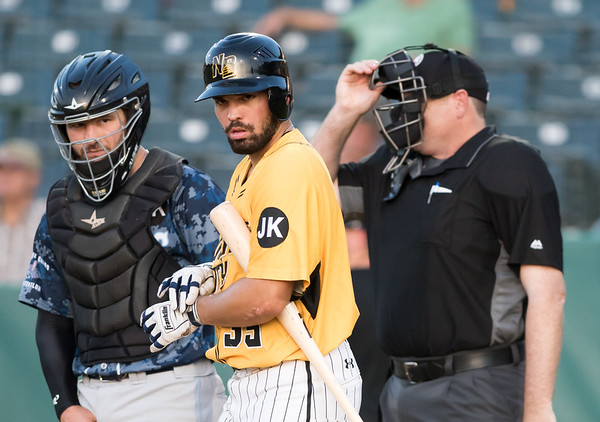 06/29/18 Wesley Bunnell | Staff The New Britain Bees were defeated 6-4 by the Southern Maryland Blue Crabs. Vicente Conde (35)