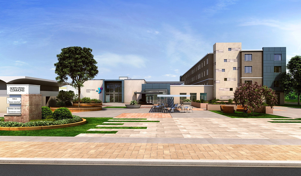 . An architectural rendering of the completed North Penn Commons  (submitted)