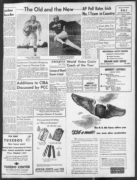 Daily Trojan, Vol. 39, No. 60, December 10, 1947