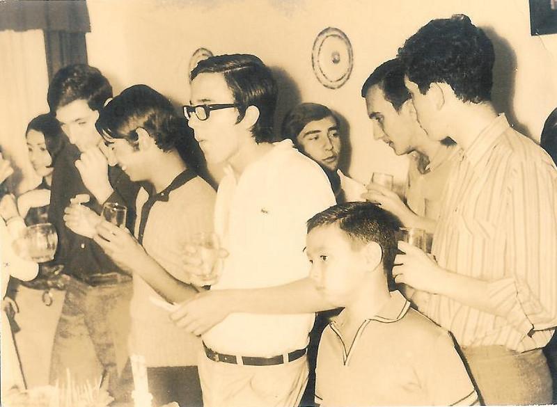 Agosto 69 - Virgilio, Pipas, Agostinho Caetano, João Arruda, Zé Ferraz, Luis Duarte, Zé Arrobas, ??