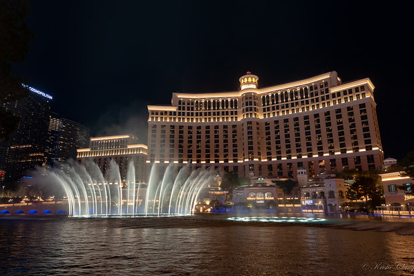 Bellagio Fountains, Las Vegas Strip, Fremont St Dec 23-24, 2018