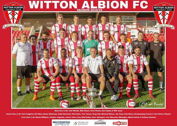 Witton Albion Team Photos 2018/19