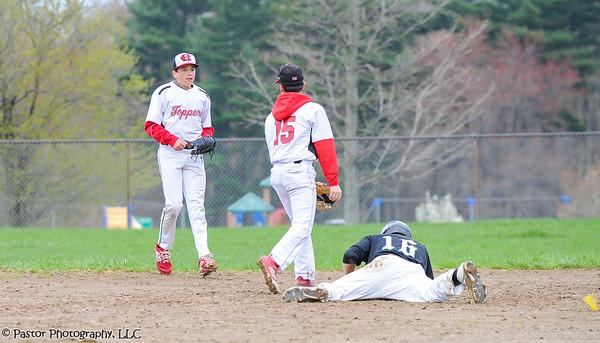 JV Baseball action