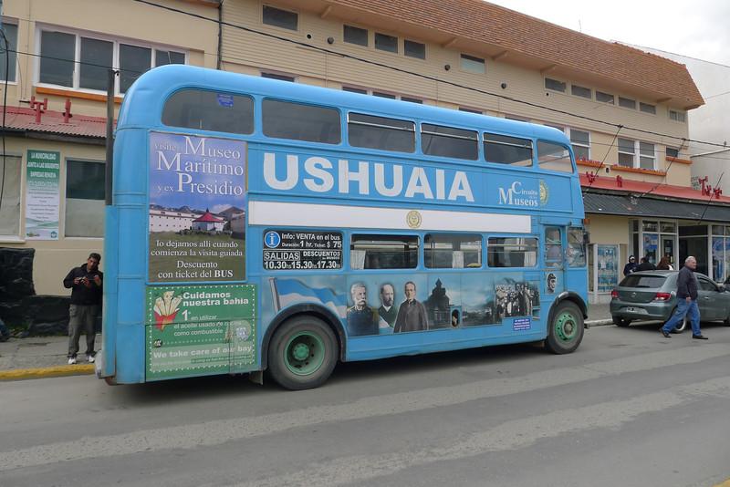 Ushuaia tourist bus ride.