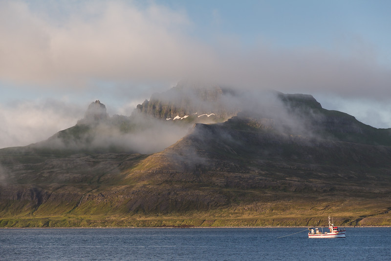 Hornvik Evening Clouds
